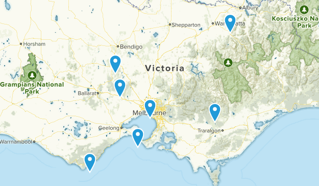 Victoria, Australia Historic Site Map