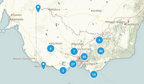 Victoria, Australia Nature Trips Map