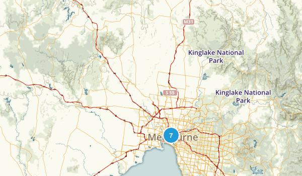 Victoria, Australia Road Biking Map