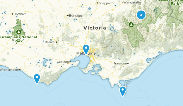 Victoria, Australia Scenic Driving Map