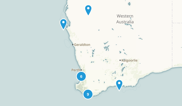 Western Australia, Australia Backpacking Map