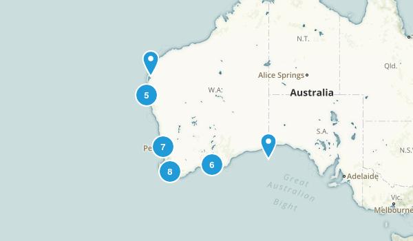 Western Australia, Australia Beach Map