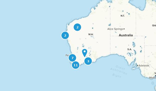 Western Australia, Australia Camping Map