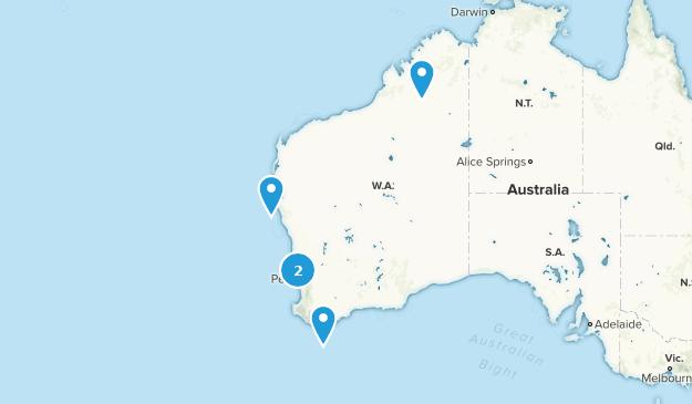 Western Australia, Australia Cave Map