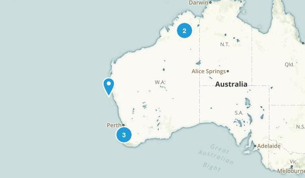Western Australia, Australia Historic Site Map