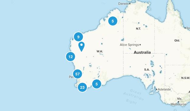 Western Australia, Australia Parks Map