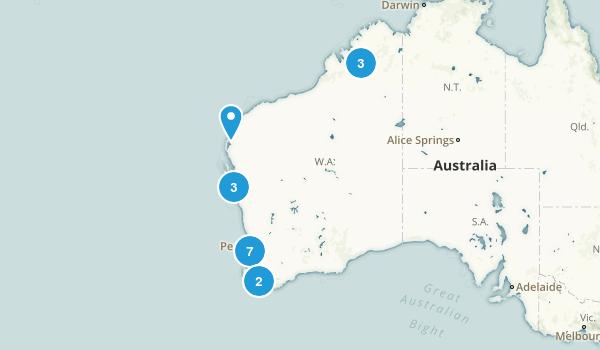 Western Australia, Australia River Map