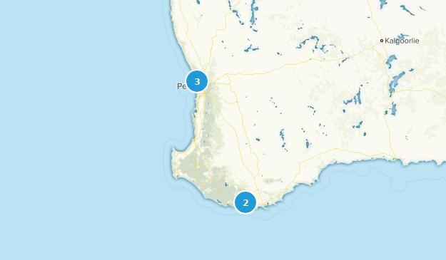 Western Australia, Australia Road Biking Map