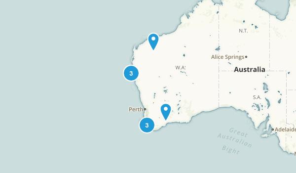 Western Australia, Australia Scenic Driving Map