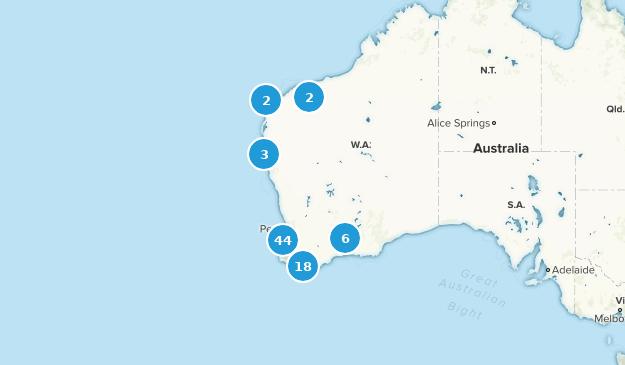 Western Australia, Australia Trail Running Map