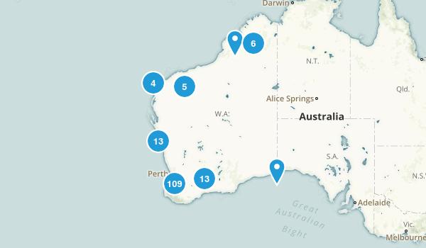 Western Australia, Australia Walking Map