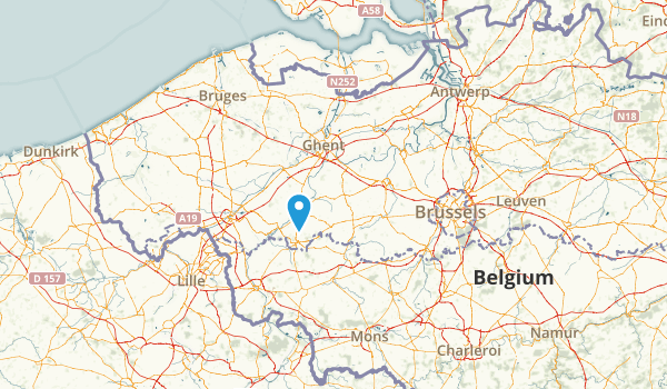 Oost-Vlaanderen, Belgium Parks Map