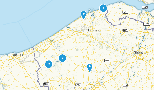West Flanders, Belgium Bird Watching Map
