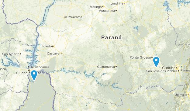 Parana, Brazil Parks Map