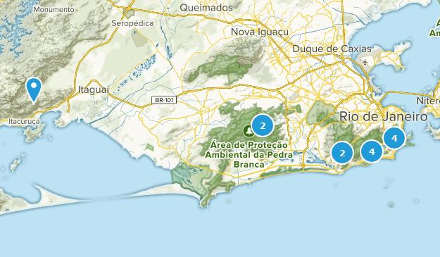 Rio de Janeiro, Brazil Hiking Map