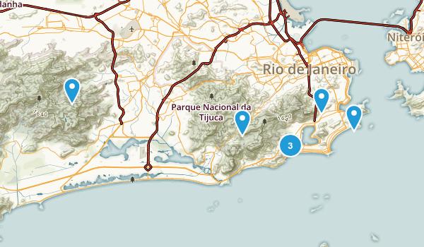 Rio de Janeiro, Brazil Views Map