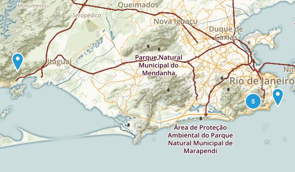 Rio de Janeiro, Brazil Walking Map