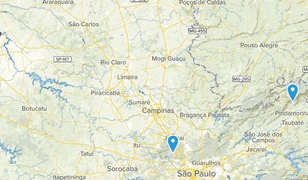 Sao Paulo, Brazil Parks Map