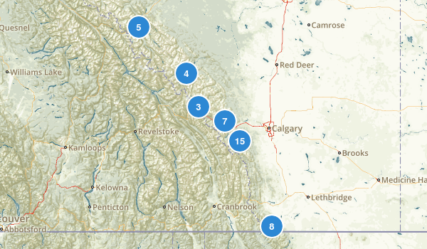 Alberta, Canada Backpacking Map