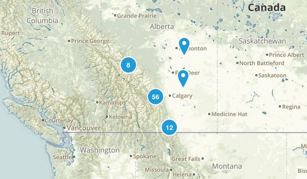 Alberta, Canada Backpacking Map
