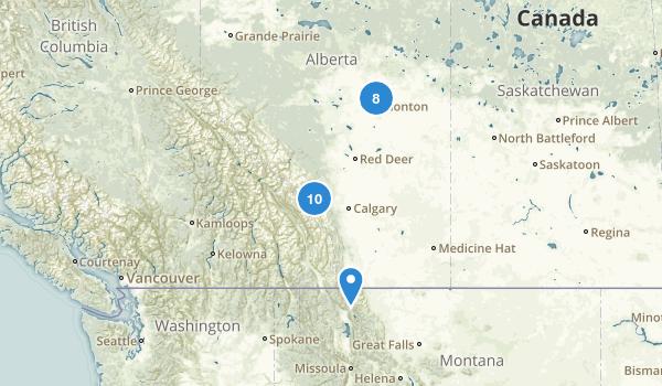 Alberta, Canada Cross Country Skiing Map