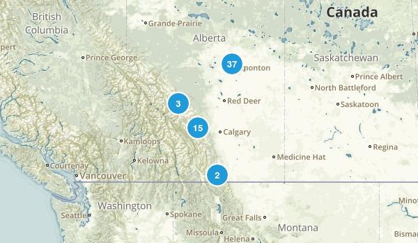 Alberta, Canada Dog Friendly Map