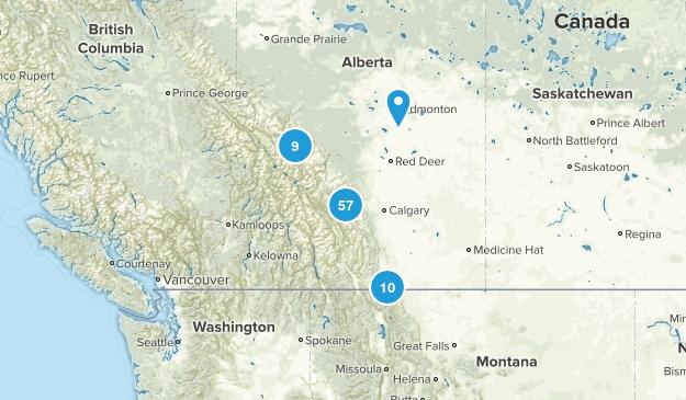 Alberta, Canada No Dogs Map