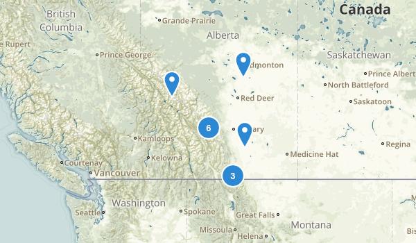 Alberta, Canada Fishing Map