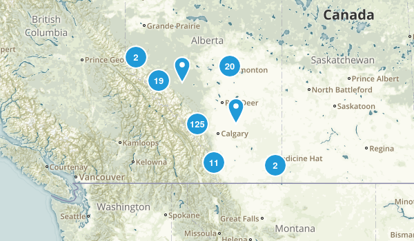 Alberta, Canada Mountain Biking Map