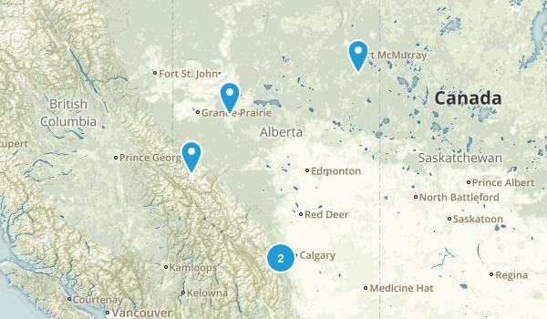 Alberta, Canada Off Road Driving Map