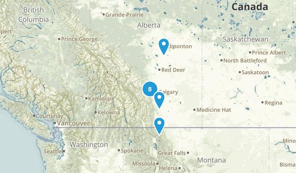 Alberta, Canada Road Biking Map
