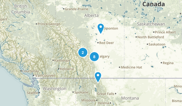 Alberta, Canada Road Biking Map