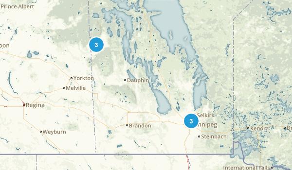 Manitoba, Canada Wheelchair Friendly Map