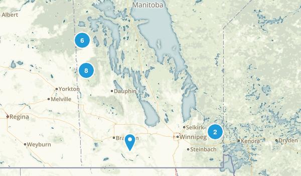 Manitoba, Canada Camping Map