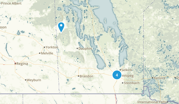 Manitoba, Canada City Walk Map