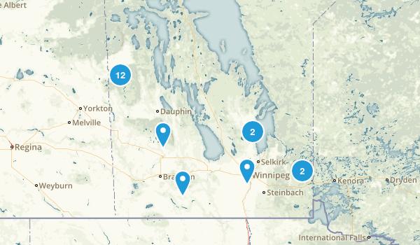 Manitoba, Canada Cross Country Skiing Map