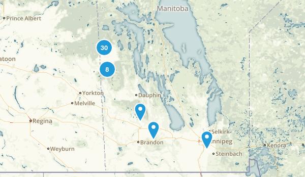 Manitoba, Canada Dog Friendly Map