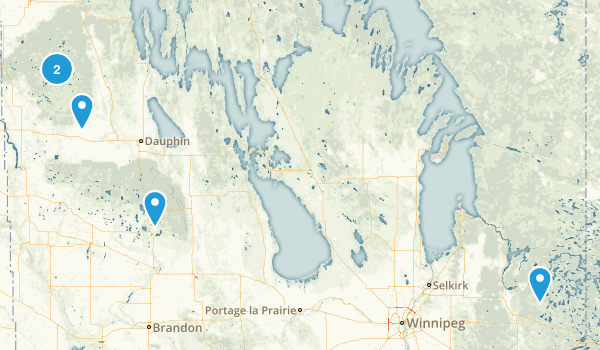 Manitoba, Canada Paddle Sports Map