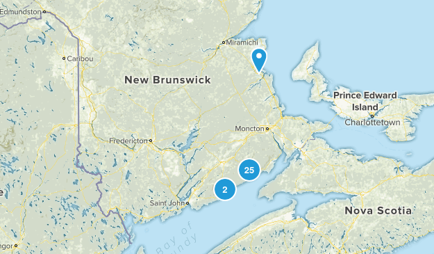 New Brunswick, Canada National Parks Map