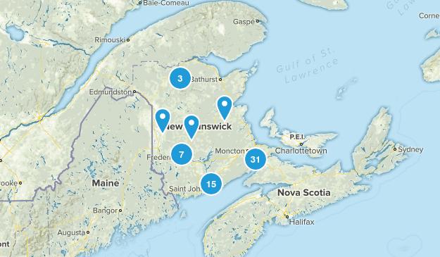 New Brunswick, Canada Nature Trips Map