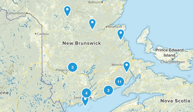 New Brunswick, Canada River Map