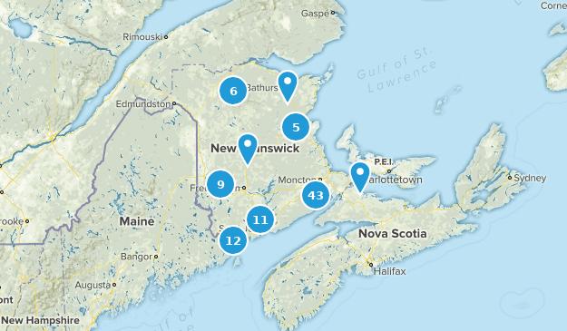 New Brunswick, Canada Views Map