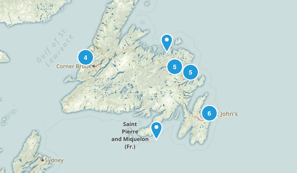 Newfoundland and Labrador, Canada Dog Friendly Map