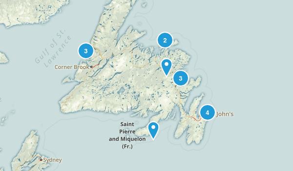 Newfoundland and Labrador, Canada Historic Site Map