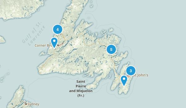 Newfoundland and Labrador, Canada River Map