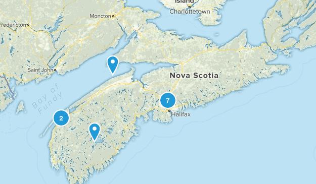 Nova Scotia, Canada Camping Map