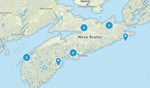 Nova Scotia, Canada Cross Country Skiing Map