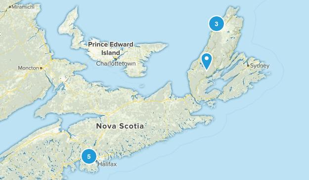 Nova Scotia, Canada No Dogs Map
