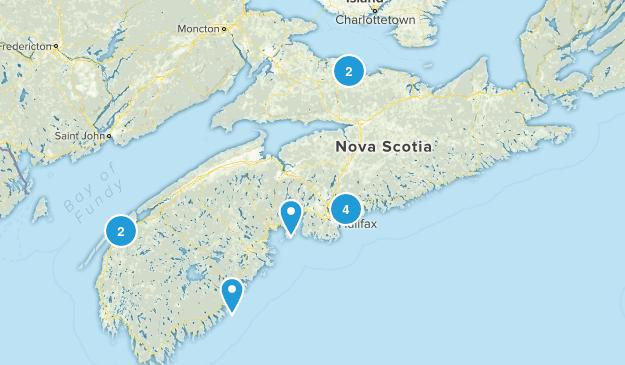 Nova Scotia, Canada Rails Trails Map