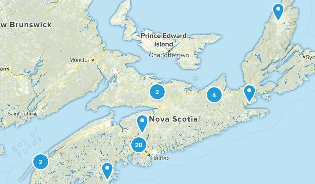 Nova Scotia, Canada Snowshoeing Map